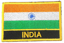 India Embroidered Sew or Iron on Patch Badge