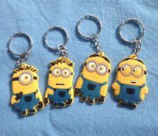 Minions Despicable ME key rings keyring school bag tag set of 4