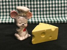 New listing Lefton Salt N Pepper Shakers Mouse & Cheese Very Nice