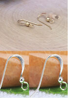 French Ear Wire Hook Fancy Gold Silver Plated 12x14MM US SELLER!!