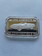 1992 Corvette Coupe Silver Art Bar by Sillvertowne  Gem  Rare