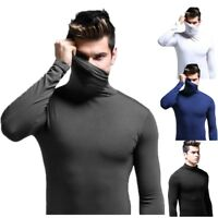 Men's Slim Fit Turtleneck Pullover Long Sleeve Muscle Tee T-shirt Fashion Tops