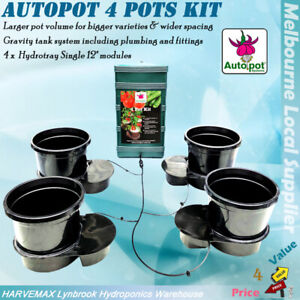 AutoPot 4 Pots Kit Plant Driven Watering Feeding Systems Hydroponics Grow System