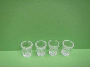 4 PCS SHOT GLASS 1/6 SCALE MINIATURE DOLLHOUSE BAR FOOD BARBIE KEN SIZE