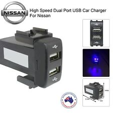 New Dual Port USB Power Socket Charger Adapter for NISSAN