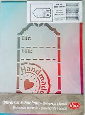 Viva Decor Schablone DIN A5, Schablone Etikett für ... von ..., Handmade