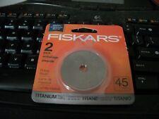 Fiskars 45mm Titanium Rotary Blades - 2 Pack - Last Longer / 3 Times Harder