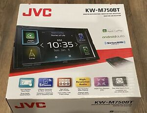 "NEW JVC KW-M75BT 2 DIN 6.8"" Android Apple CarPlay Bluetooth Sirius XM USB Stereo"