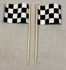 Party-Picker Zielflagge Motorsport 50 Stk. Dekopicker Papierfähnchen Käsepicker