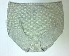 Women's Illumination Cotton Blend Brief Panty Gray Lemonade Dot - Size 7 Large