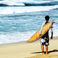 "BIRTHDAY CARD ""HAWAIIAN SURFER DESIGN"" LARGE SQUARE SIZE 6.25"" x 6.25"" HI0384"