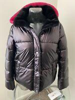 Calvin Klein Metallic Plum/Purple Hooded Puffer Jacket Sz S,L,XL $179 CJ9J6010