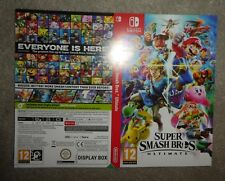 NO BOX OR GAME Nintendo Switch Super Smash promo Sleeve official shop display