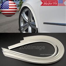 "4 Pieces 47"" White Arch Wide Body Fender Flares Extension Lip For Honda Acura"