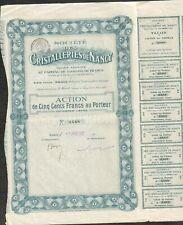 CRISTALLERIES DE NANCY, 1921 (54)  (X)
