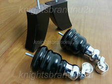 4x WOODEN FURNITURE LEGS FEET WITH CHROME CASTOR, SETTEE CHAIRS, SOFAS, M8(8mm)