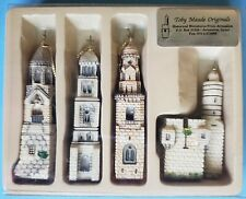 New listing Vintage Collectible 4 Historical Miniature Towers Jerusalem Toby Maude Original