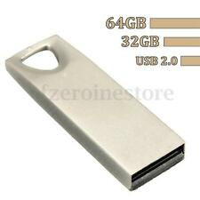 NEW 64GB Metal Zinc Alloy Casing USB 2.0 Flash Memory Stick Pen Drive Storage
