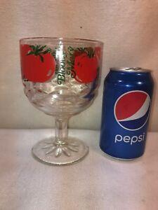 Vtg LARGE 1950-60's? Tomato Juice BLOODY MARY Pedestal Wine Glass 16oz