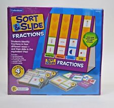 LAKESHORE SEALED! Sort & Slide Fractions 4 Skill Levels Ages 7+