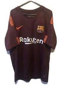 MESSI FC Barcelona Third Football Shirt 2017-18 Men's Size L Nike Excellent