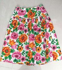 Women Multi Color Adrienne Vittadini Mid Calf Floral Skirt sz L