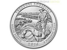 America the Beautiful ATB Roosevelt National dakota del norte 5 Oz plata 2016 EE. UU.