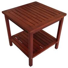 Beistelltisch Gartentisch Kaffeetisch Gartenmöbel Tisch CABANA 45x45cm Holz