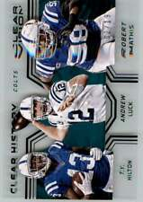 2016 Panini Clear Vision Clear History Robert Mathis T Y Hilton Andrew Luck 2/19