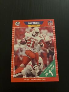 1989 Pro Set #494 Barry Sanders RC Rookie Card