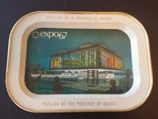 Vintage Montreal World Fair Expo 67 Terre des Hommes tray Province of Quebec