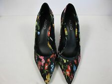 "Aldo womens ""Elicia"" shoes size 10 floral design high heel slip on shoes."