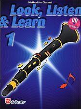 Look, Listen & Learn - Clarinet Part 1 (Book + CD) Sheet Music Book Beginner How