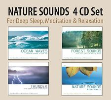 Nature Sound Effects: Thunderstorms, Ocean Waves, Forest Sounds, 4 CD SET - NEW!