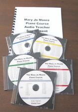 Mary Jo Moore Piano Course  audio CD's ONLY of lessons/Homeschool