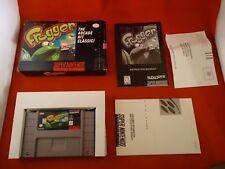 Frogger (Super Nintendo Entertainment System, 1998) SNES COMPLETE w/ Box manual