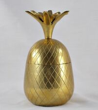 Vintage Brass Pineapple Trinket Jewelry Box - Decorative Crafts Inc.- Numbered