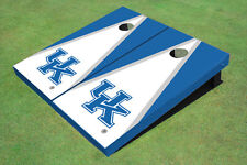 University Of Kentucky White And Blue Matching Triangle Custom Cornhole Boa