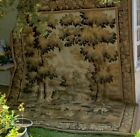 A Large Antique Continental Tapestry with Crane Birds