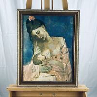 "(after) Pablo Picasso ""Maternity"" Vintage Mother & Child Portrait Framed Giclée"