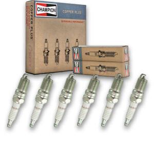 6 pc Champion Copper Plus Spark Plugs for 1996-2000 Ford Ranger 3.0L 4.0L V6 zz