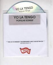 YO LA TENGO Popular Songs PROMO ACETATE CD ALBUM