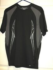 EVERLAST SPORT Men's Athletic Wicking T-Shirt Black & Gray Size M EUC