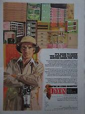 1973 PUB LYON METAL PRODUCTS AURORA MOBILIER LION ORIGINAL AD