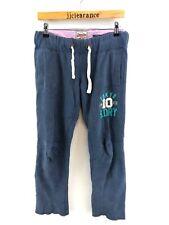 SUPERDRY Womens Tracksuit Bottoms Joggers 2XS XXS W32 L32 Blue Cotton Poly Slim