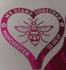 Manchester Bee Heart Decal CAR Van Window Sticker l Love plum chrome (dark pink)