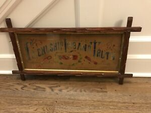 Antique Victorian Punch Paper Friendship Love And Truth Embroidered Sampler
