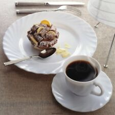 36  Kaffeetassen  Arcopal 22 cl mt Untere + 36 Teller 19,5 cm TRIANON