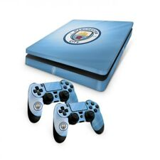 Official Manchester City FC Ps4 Slim Console Skin and 2x Controller Skin Combo P