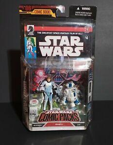 2007 Hasbro Star Wars Retro Luke and R2-D2 Comic Pack #4